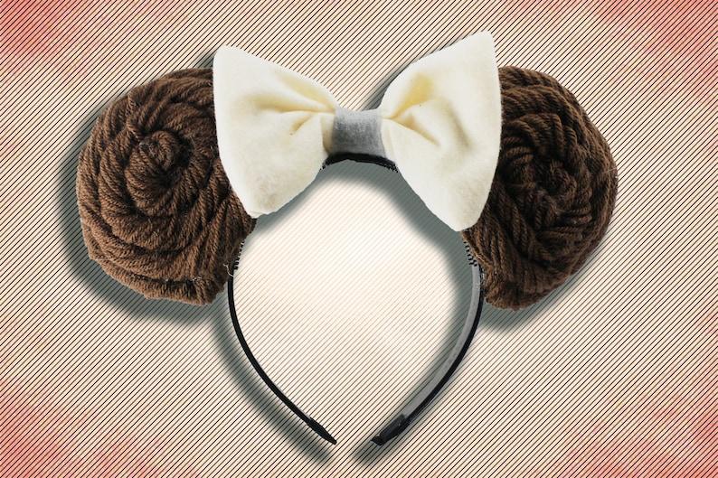 Leia Buns Star Wars Inspired Mickey Ears  Princess Leia  image 0