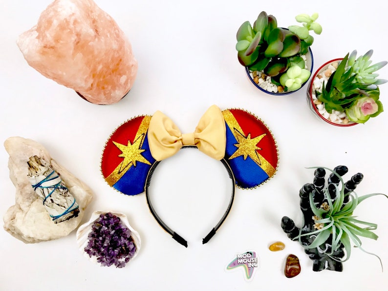 Captain Marvel Inspired Mouse Ears w/ Bow image 0