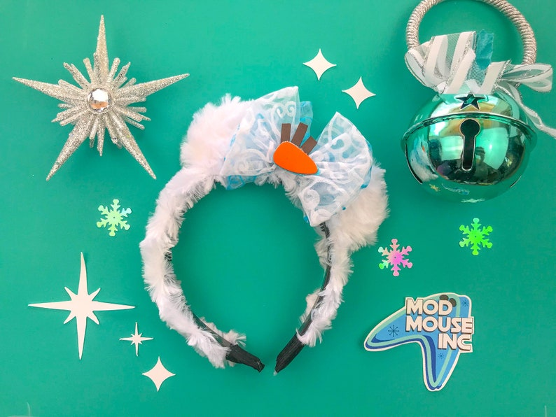 Olaf Inspired Snowman Mini Mouse Ears  Frozen 2 Inspired image 0