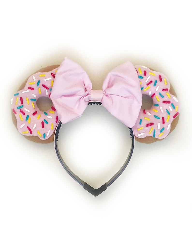 Donut Ears w/ Pink Bow image 0