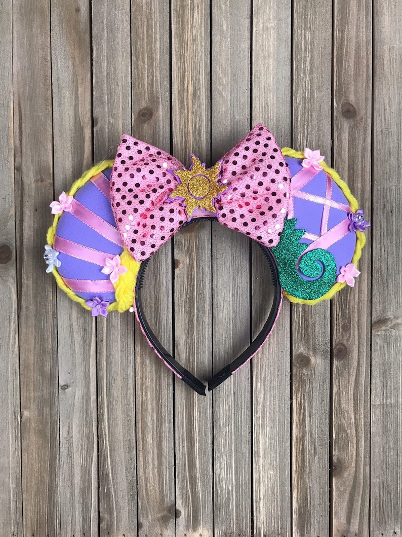 Rapunzel Mouse Ear Headband with Bow image 0