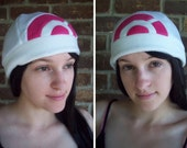 Dawn Pokemon Hat and Pokemon Go Hat- Fleece Hat Adult, Teen, Kid - Christmas Gift, Holiday Gift, or a winter, nerdy, geekery gift!