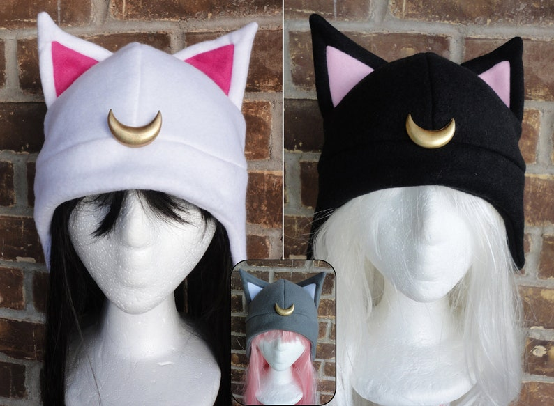 03968e3f5e4 Luna Artimus Diana Luna P Sailor Moon Hat Fleece Hat
