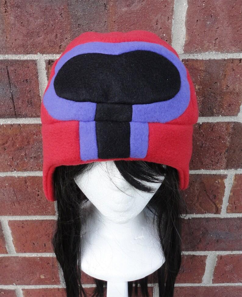 ec29c12823ea1 Magneto Helmet X-Men Hat Fleece Hat Adult Teen Kid A