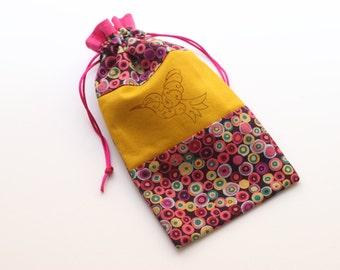 Hummingbird Tarot bag (small-medium)
