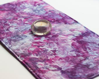 Violet Swirls Spread Mat for Oracle Readings Divination Crystals Tarot
