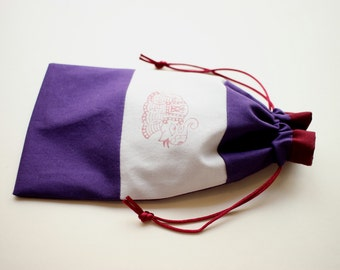 Elephant Stamped Tarot bag (small to medium)
