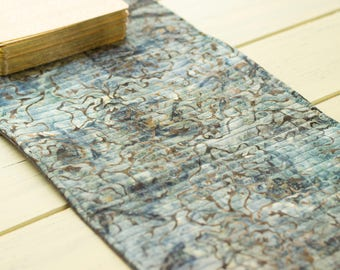 Blue Batik Traveling Spread Cloth