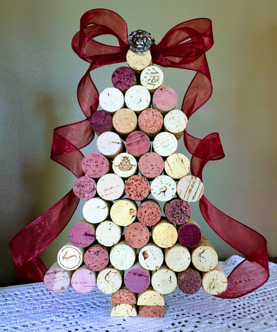 Beautiful Wine Cork Christmas Tree Decoration