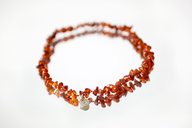 Initial Baltic Amber necklace  baby girl amber necklace  image 0
