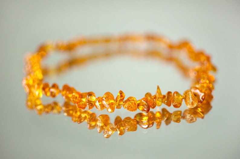 Baltic amber teething necklace  baby necklace  baby teething image 0