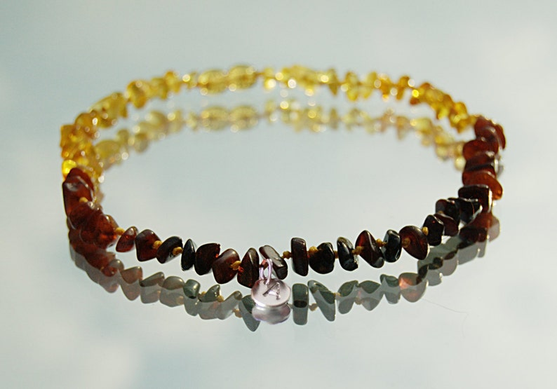 Perzonalized Baltic Amber necklace baby girl amber necklace  image 0