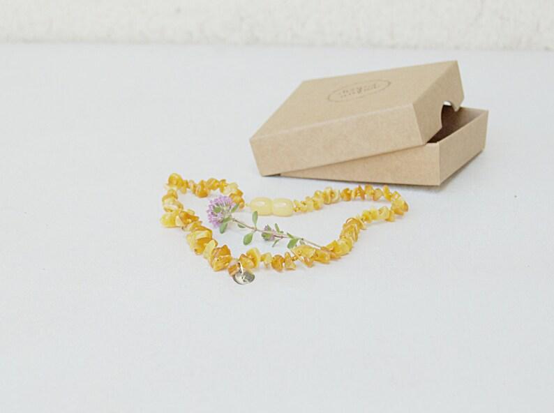 Teething necklace bone amber  Personalized Baltic amber baby image 0
