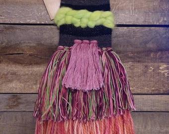 Wall Weaving- Wall Art- Alpaca Fiber