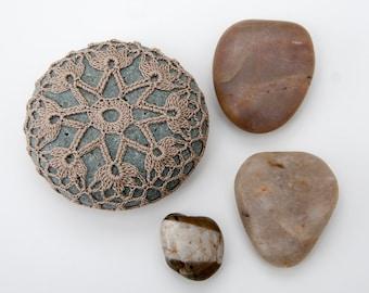 Crochet Stone Pattern, DIY, Lace Stone Cover Pattern, Crochet Rock Pattern, Starflower, Beach house decor, Tabletop decor, bowl element
