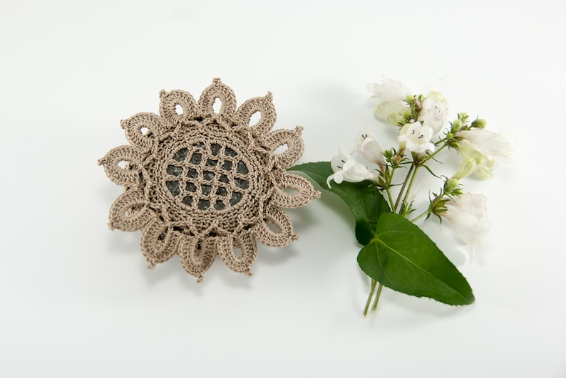 Crochet Stone Pattern DIY Lace Stone Cover Pattern Rock image 0