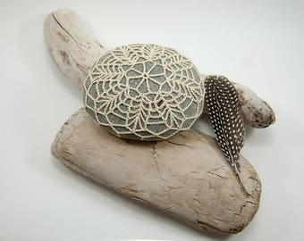 Crochet Stone Pattern, DIY, Lace Stone Cover Pattern, Rock Cozy Pattern, Bee Blossom, Beach house decor, Tabletop decor, bowl element