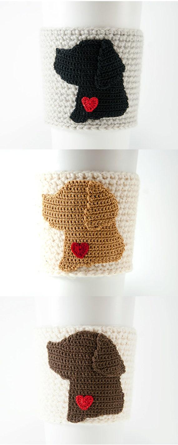Coffee cozy cup sleeve black lab chocolate lab yellow lab | Etsy