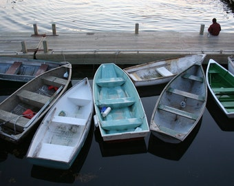 """Boats parked at Bar Harbor, Maine -  8 x 10"""" color print"""