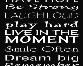 "Believe in yourself inspirational print 5x7"" encouragement for kids"