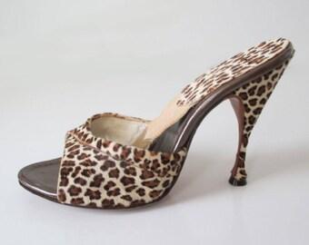 Vintage 50's Fredericks Of Hollywood Leopard Springolators 7