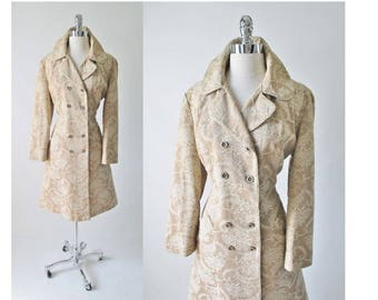 Vintage 60's Princess Cut Brocade Tapestry Special Occasion Jacket L
