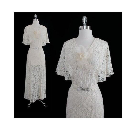 110ae23c26e Vintage 30 s Wedding Dress Vintage Wedding Dress