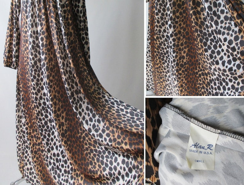 Vintage 60/'s Leopard Night Gown Costume Dress S