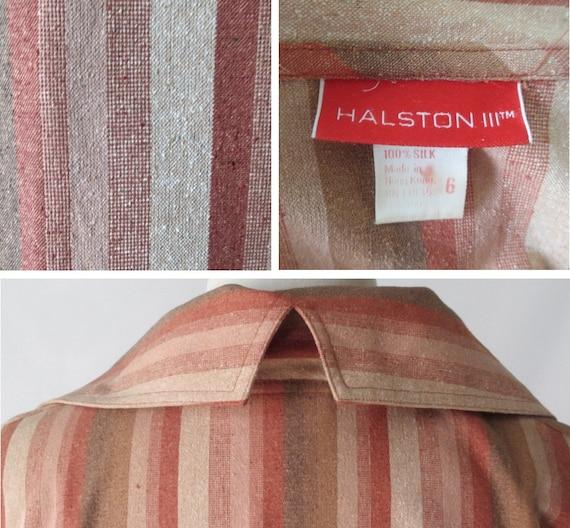 Vintage Halston III Striped Avant Garde Silk Dres… - image 4