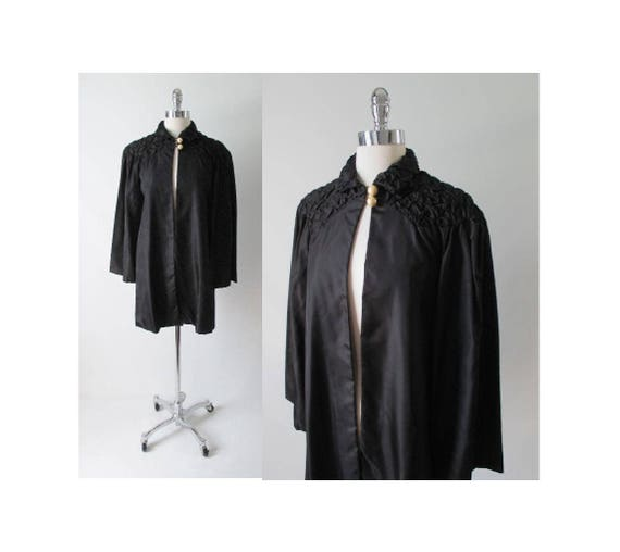 Vintage 30s 20s Quilted Black Taffeta & Pearl Deco