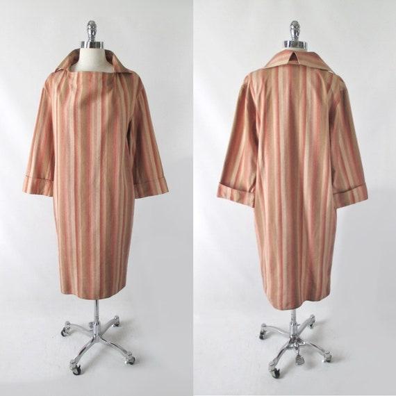 Vintage Halston III Striped Avant Garde Silk Dres… - image 2