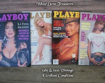 Vintage Playboy Magazines 1980s 1990s Playboy Centerfold Men Magazine Adult Entertainment Nude Photos Sex Book Erotica Book Brand New