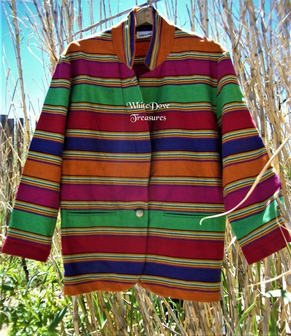 Unisex Rainbow Jacket, LGBTQ Jacket, Vintage Guate