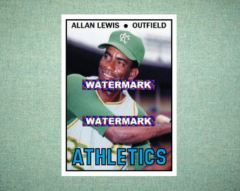 Tony Pierce Kansas City Athletics A/'s Custom Baseball Card 1967 Style Card That Could Have Been by MaxCards Mint Condition 2019