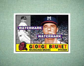 Ted Lepcio Philadelphia Phillies 1960 Style Custom Baseball Art Card