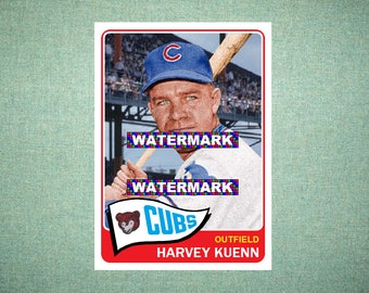 Harvey Kuenn Cleveland Indians Custom Baseball Card 1960 Style Card That Could Have Been by MaxCards Mint Condition 2017