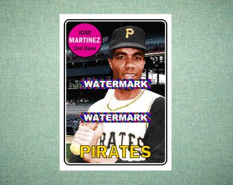 Jose Martinez Pittsburgh Pirates Custom Baseball Card 1969 Style Card That Could Have Been by MaxCards Mint Condition 2018