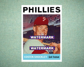 huge discount c3646 5322b Costen Shockley Philadelphia Phillies Custom Baseball Card 1964 Style