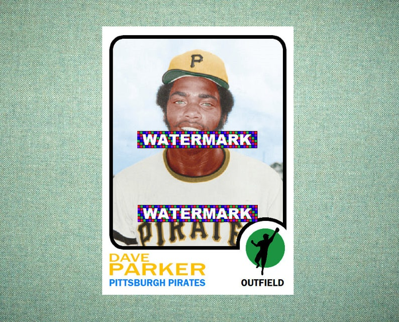 Dave Parker Pittsburgh Pirates Original Card That Could Have Been By Maxcards 1973 Style Custom Baseball Card 25 X 35 Mint