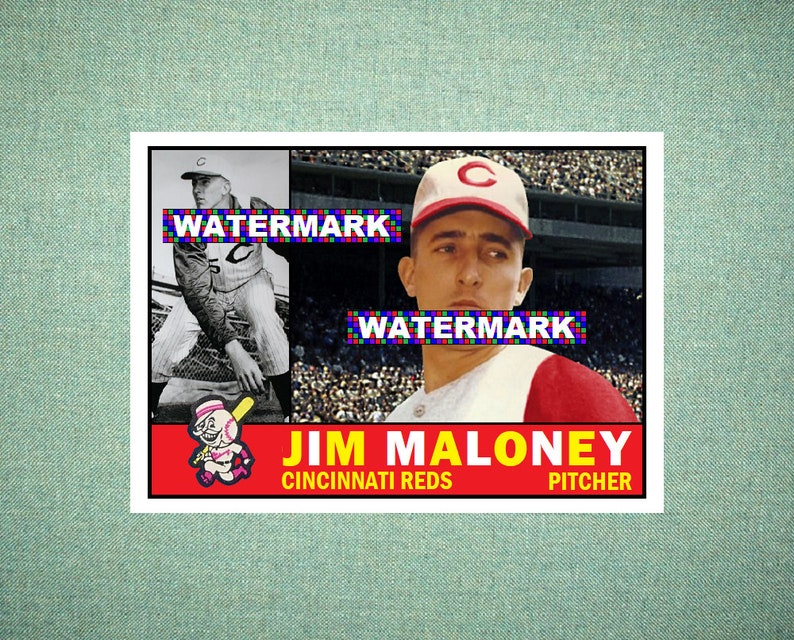 Jim Maloney Cincinnati Reds Custom Baseball Card 1960 Style Card That Could Have Been by MaxCards Mint Condition 2018