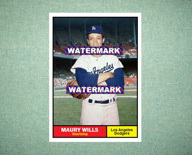 Maury Wills Los Angeles Dodgers Custom Baseball Card 1961 Style Card That Could Have Been By Maxcards Mint Condition 2017