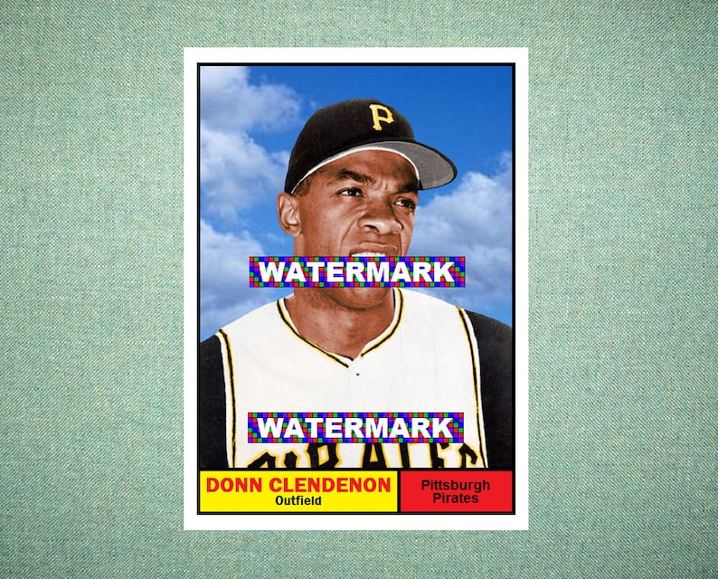 Donn Clendenon Pittsburgh Pirates Custom Baseball Card 1961 Style Card That Could Have Been By Maxcards Mint Condition 2017