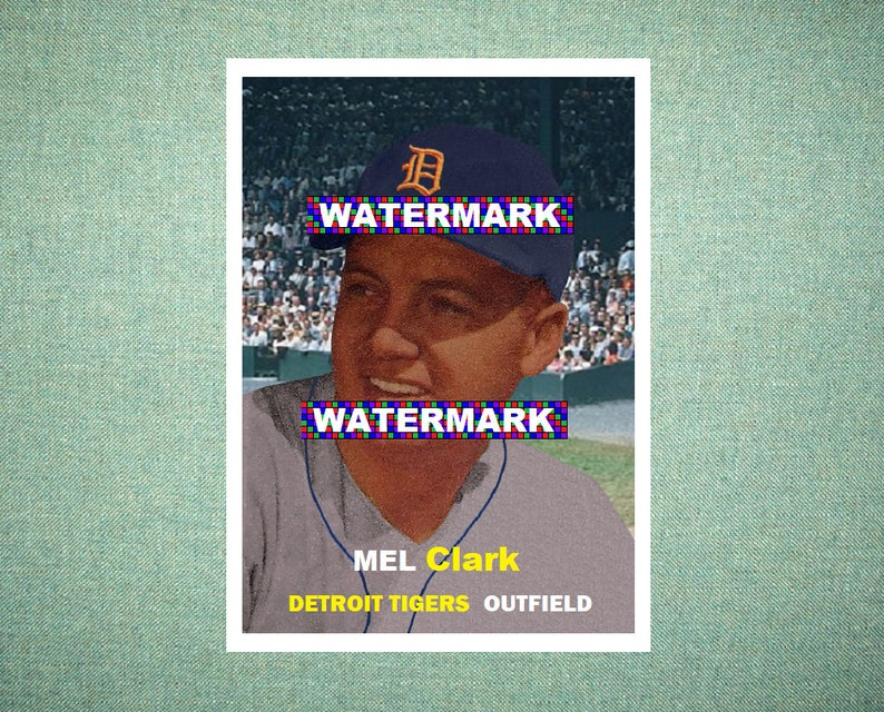 Mel Clark Detroit Tigers Custom Baseball Card 1957 Style Card That Could Have Been by MaxCards Mint Condition 2018