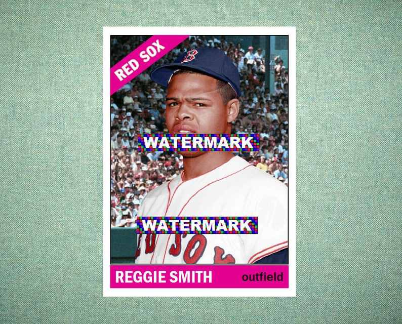 Reggie Smith Boston Red Sox Custom Baseball Card 1966 Style Card That Could Have Been By Maxcards Mint Condition 2018