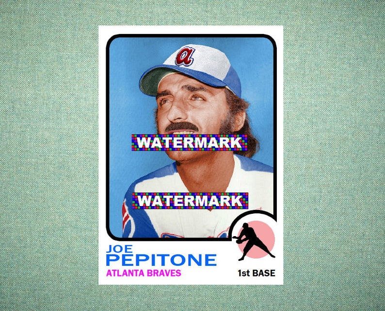 Joe Pepitone Atlanta Braves Original Card That Could Have Been By Maxcards 1973 Style Custom Baseball Card 25 X 35 Mint