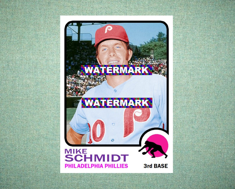 Mike Schmidt Philadelphia Phillies Custom Baseball Card 1973 Style Card That Could Have Been By Maxcards Mint Condition 2018