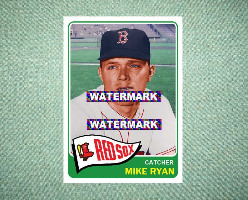 Mike Ryan Boston Red Sox Custom Baseball Card 1965 Style Card That Could Have Been by MaxCards Mint Condition 2019
