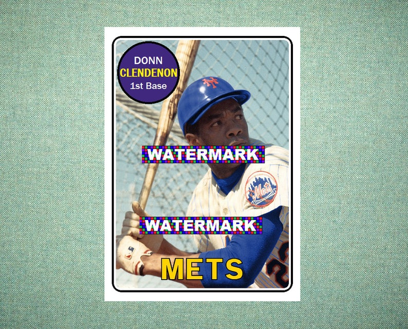 Donn Clendenon New York Mets Original Card That Could Have Been By Maxcards 1969 Style Custom Baseball Card 25 X 35 Mint