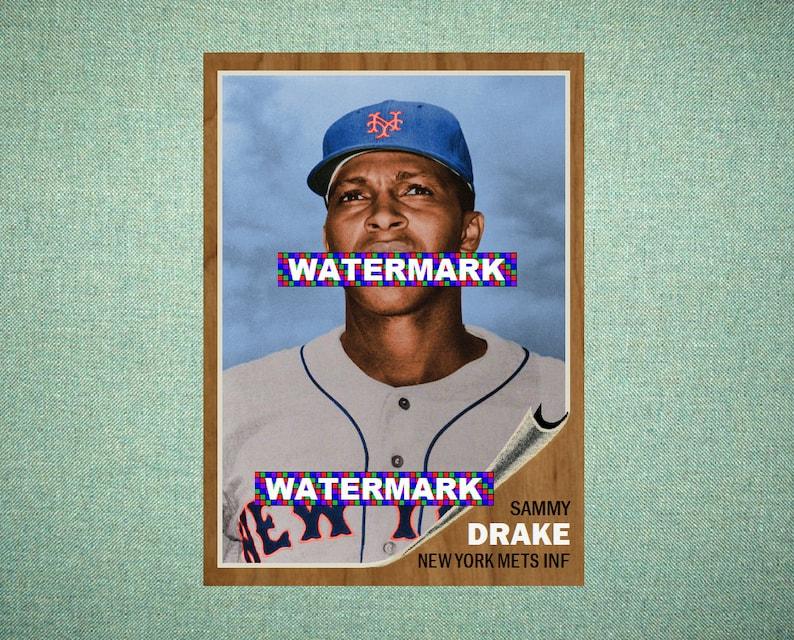 Baseball Trading Cards Willard Hunter New York Mets 1964 Style Custom Baseball Art Card Sports Trading Cards & Accessories