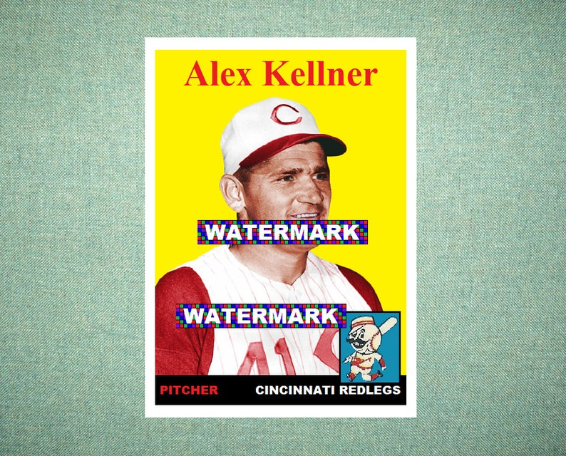 Alex Kellner Cincinnati Redlegs Custom Baseball Card 1958 Style Card That Could Have Been by MaxCards Mint Condition 2018